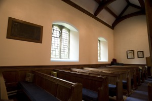 the inside of a rural english church